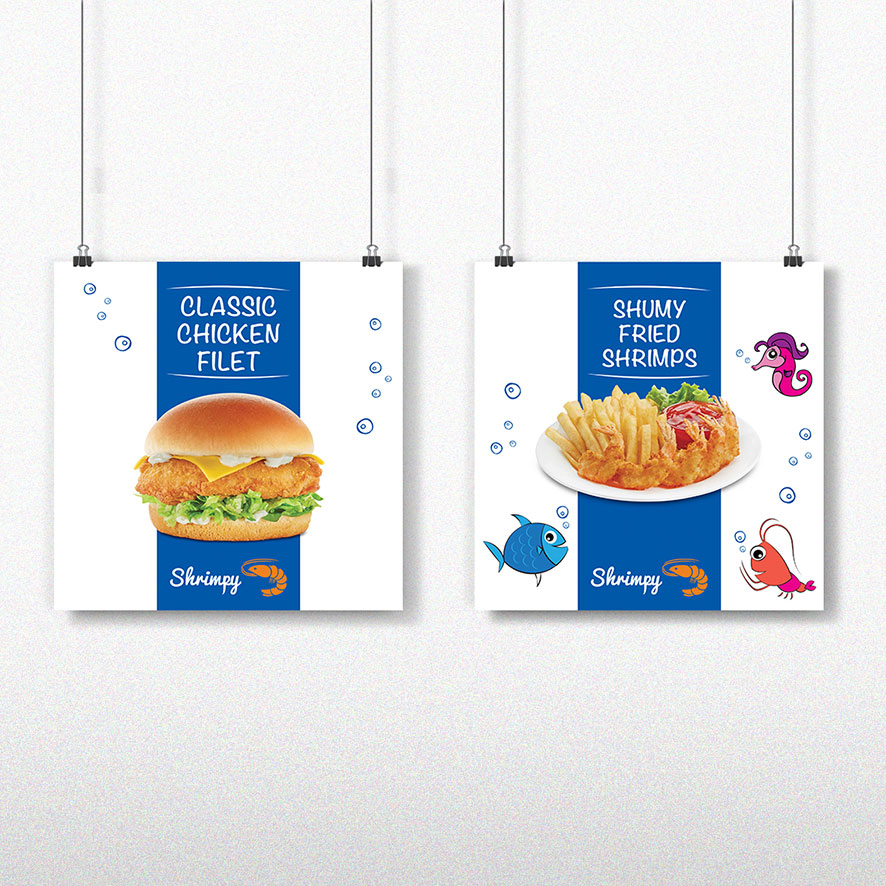 Tagbrands Global - F and B Shrimpy Posters